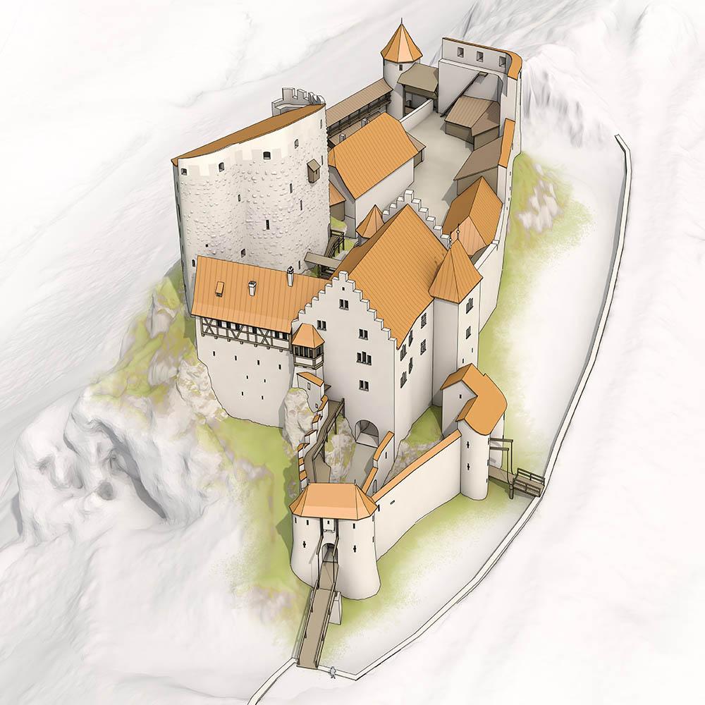 Schloss Pfeffingen Übersicht