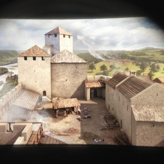 Rekonstruktion Schloss Habsburg 3D Gucker