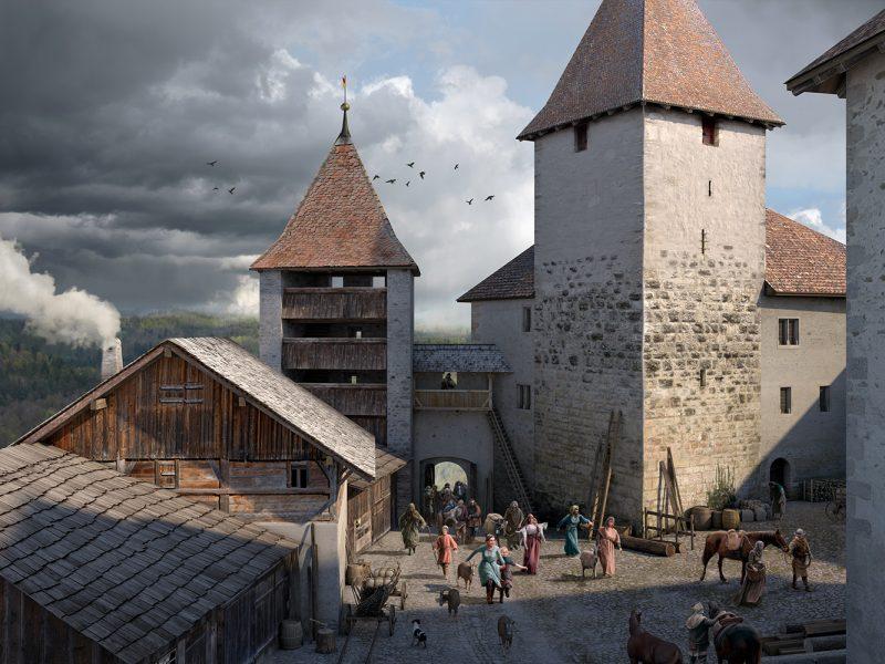 Schlosshof Kyburg