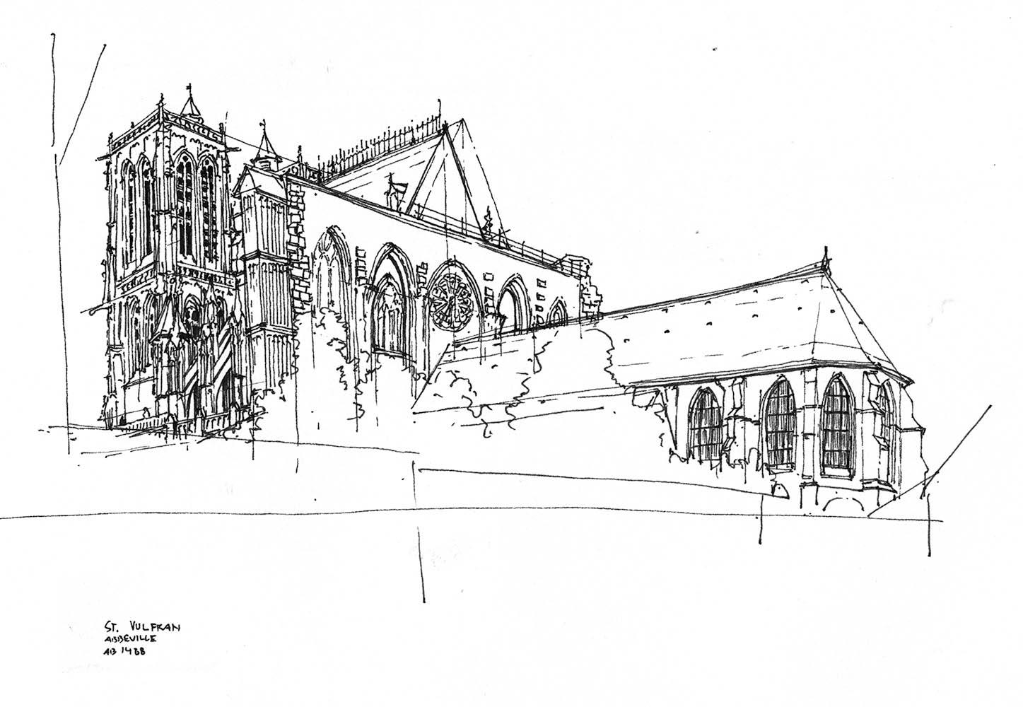 Skizze Kathedrale Abbeville, 2005