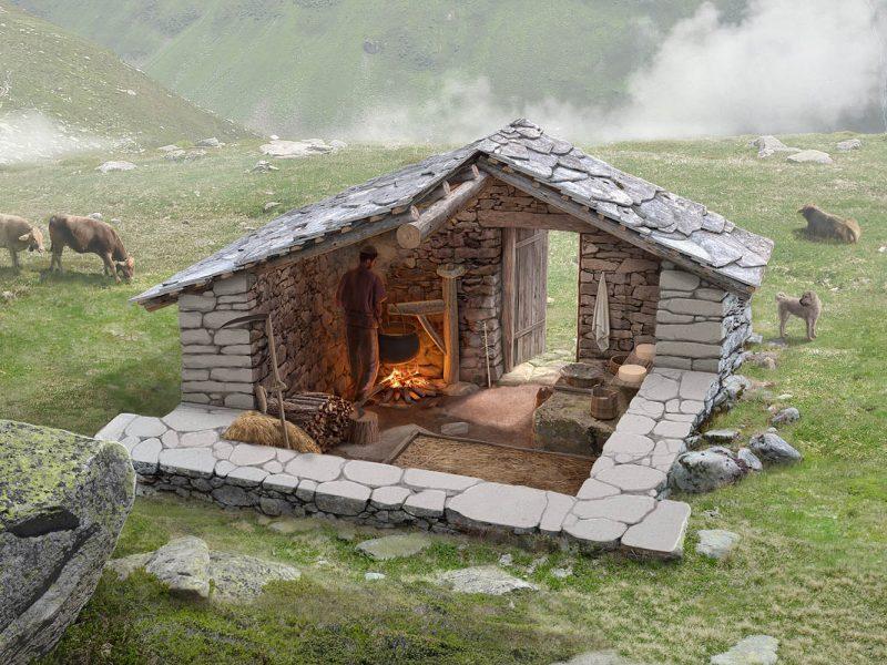 Alphütte Alte Stäfel Einblick
