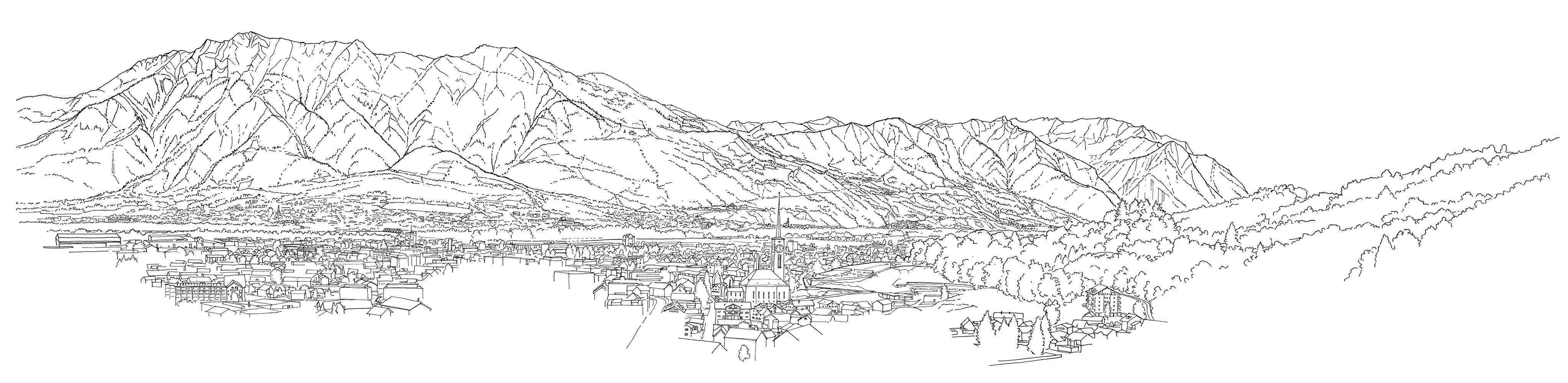 Alpenzeiger Panorama Süden