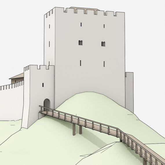 Burg Altenberg Südostansicht