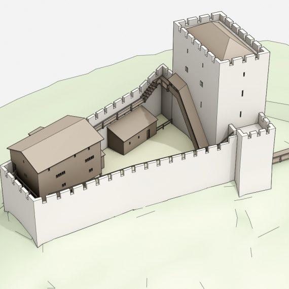Burg Altenberg Vogelschau