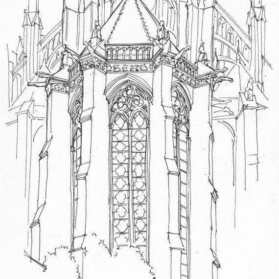 Skizze Kathedrale Amiens, 2006