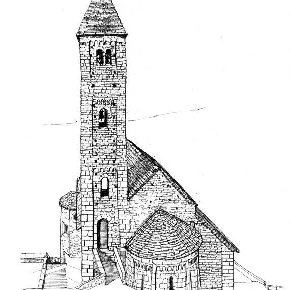 Skizze Kirche Biasca, 2004