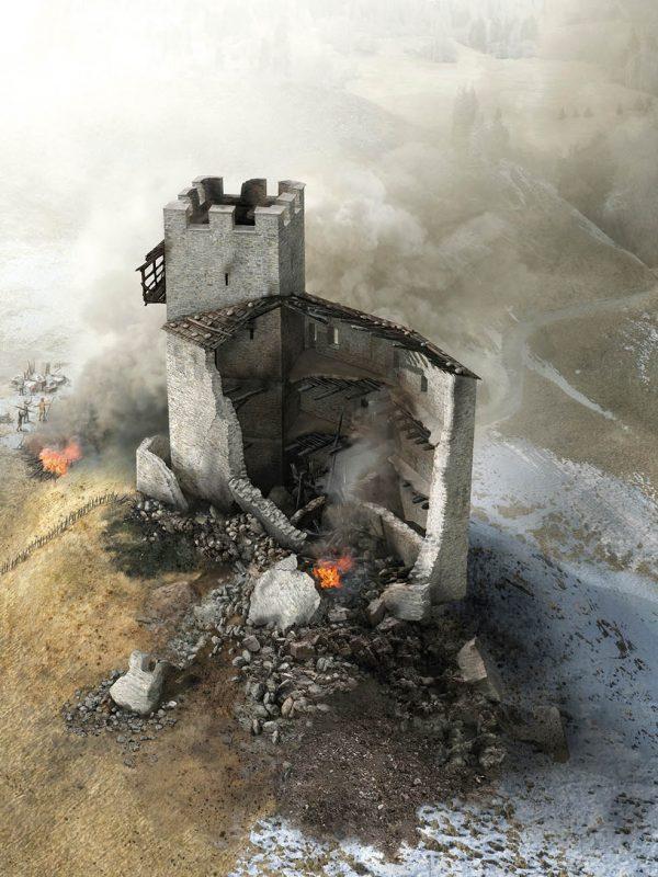 Burg Strassberg, Zerstörung