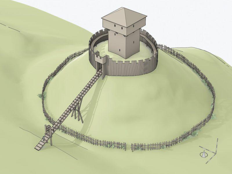 Rekonstruktionsversuch Motte Büchel, Zunzgen