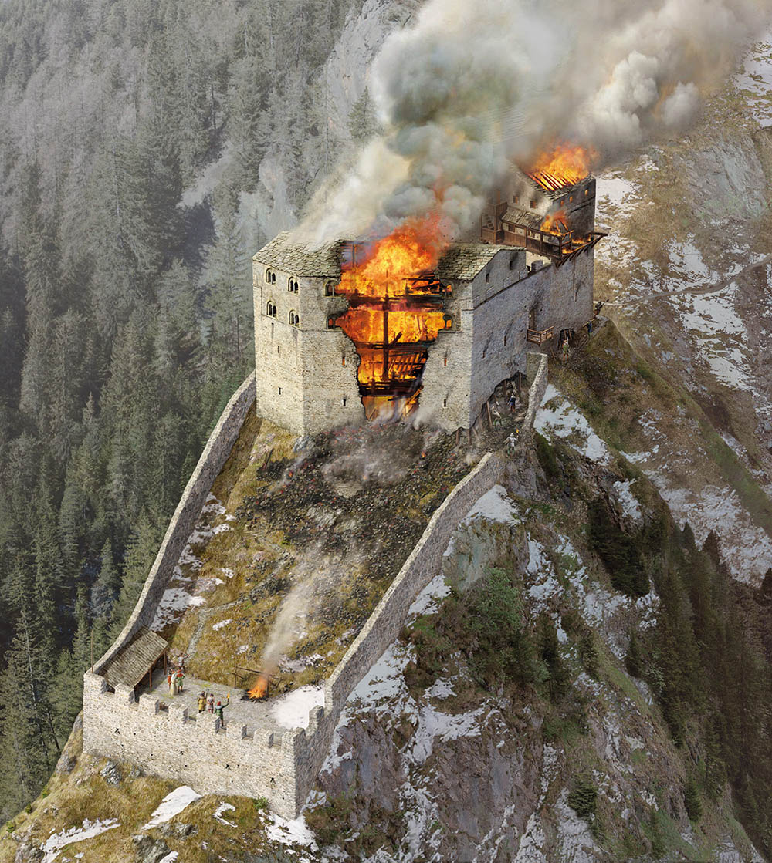 Burg Belfort Zerstörung