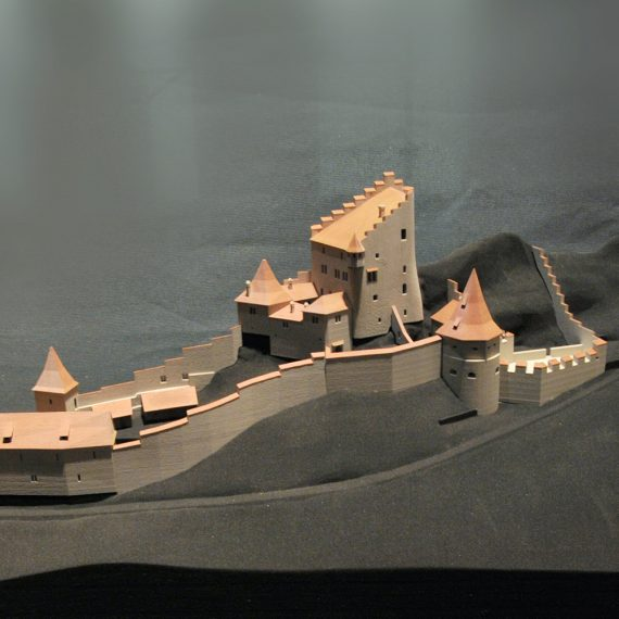Burgmodell Ausstellung HMB
