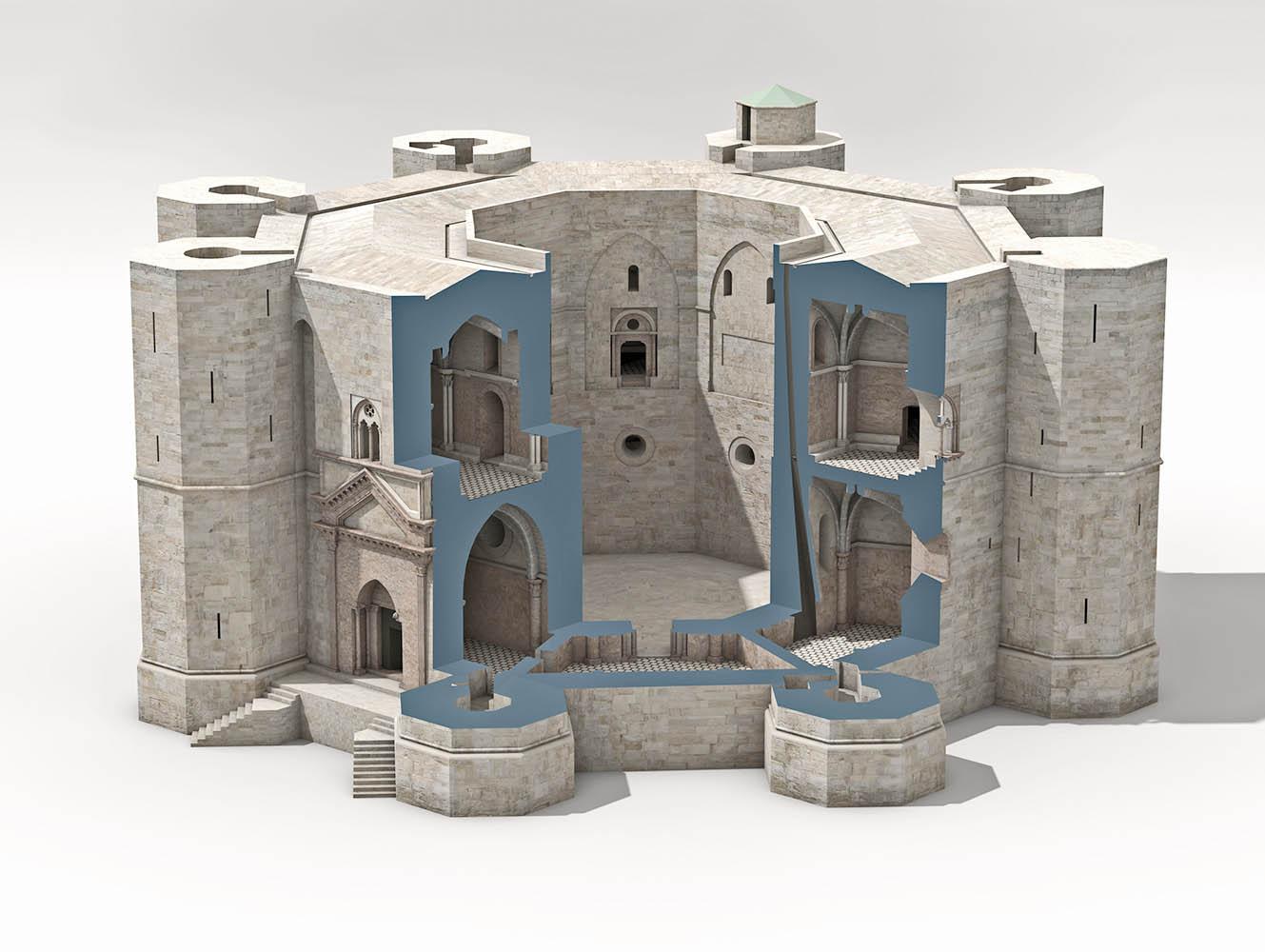 Castel del Monte Schnitt