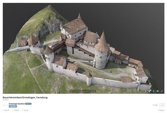 3D Modell Rekonstruktion Farnsburg