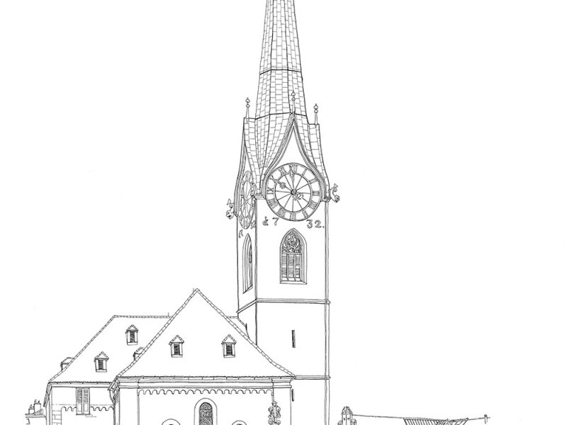 Stadtpanorama Zürich Fraumünster