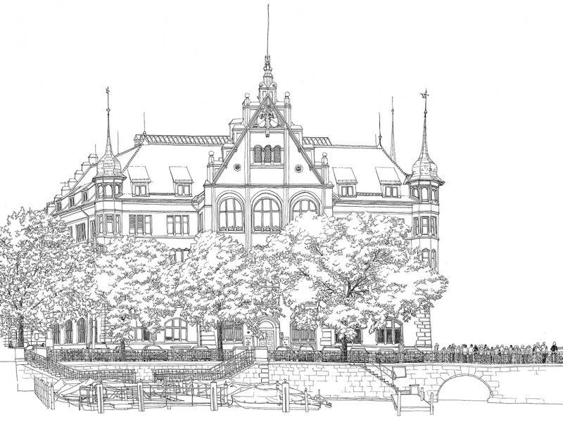 Stadtpanorama Zürich Stadthaus
