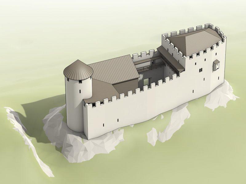 Rekonstruktion Burg Hintere Wartenberg