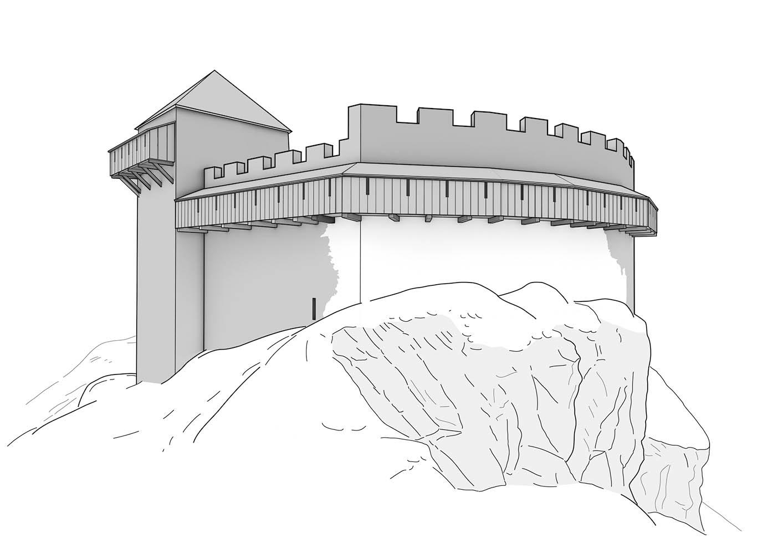 Burg Hohensax Schildmauer