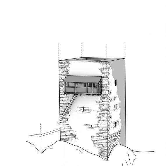 Burg Hohensax Eingang Phase 1