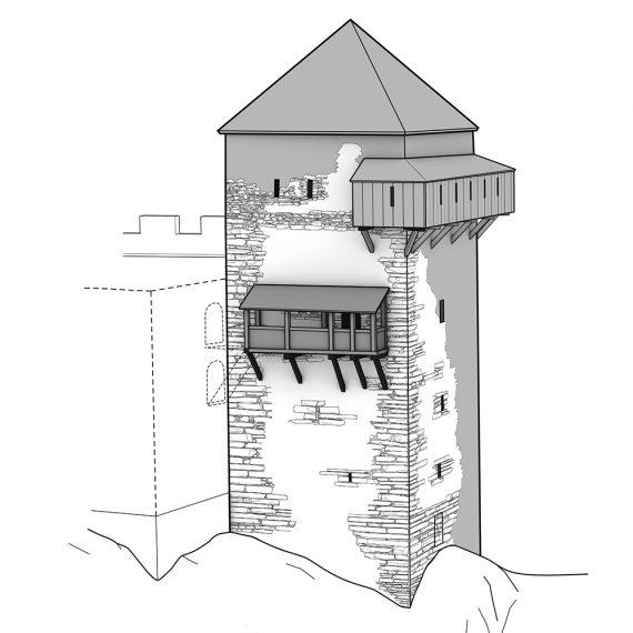 Burg Hohensax Eingang Phase 2