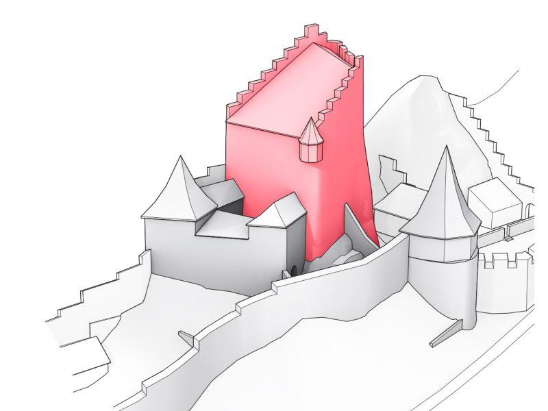 Ruine Homburg, Ansicht 04