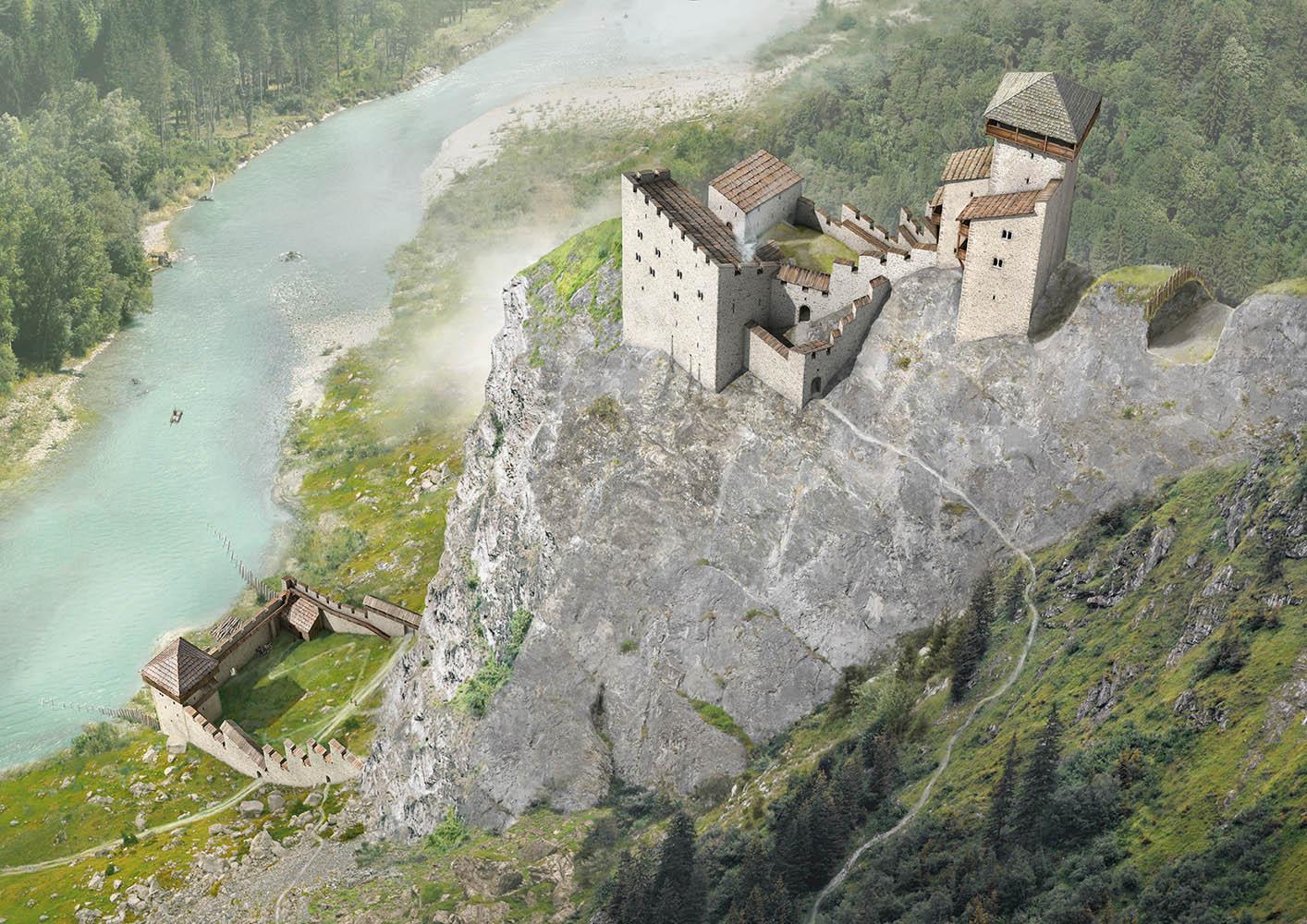 Rekonstruktionsversuch Burg Juvalta, Rothenbrunnen