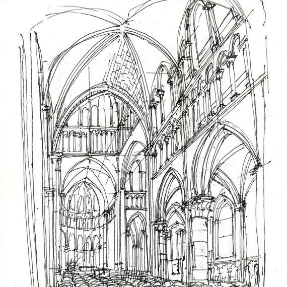 Skizze Kathedrale Lausanne, 2005