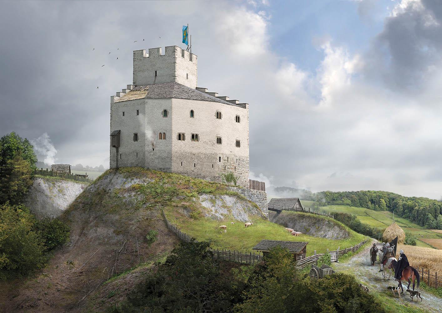Burg Lieli Umgebung