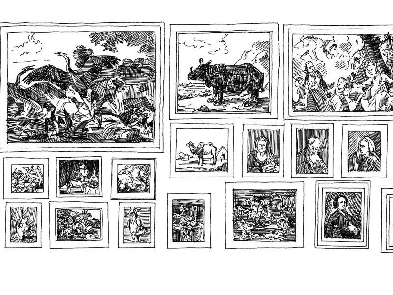 Umzeichnung Gemäldewand