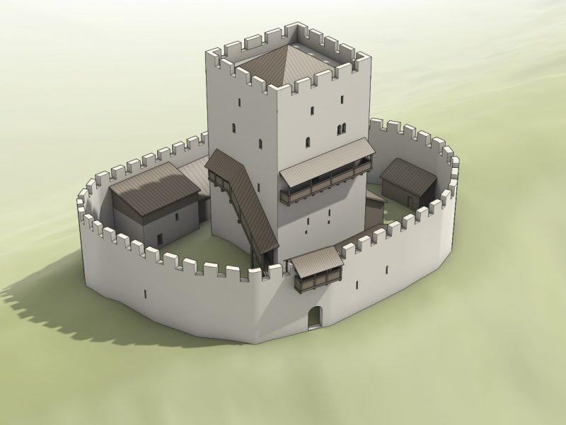 Rekonstruktion Burg Mittlere Wartenberg