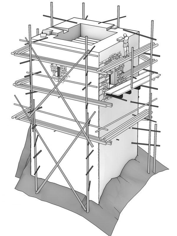 Turm Morgarten Gerüst