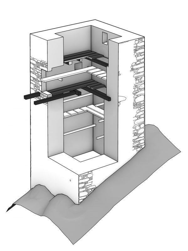 Turm Morgarten Schnitt