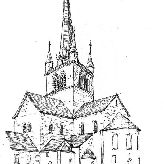 Skizze Kirche Payerne