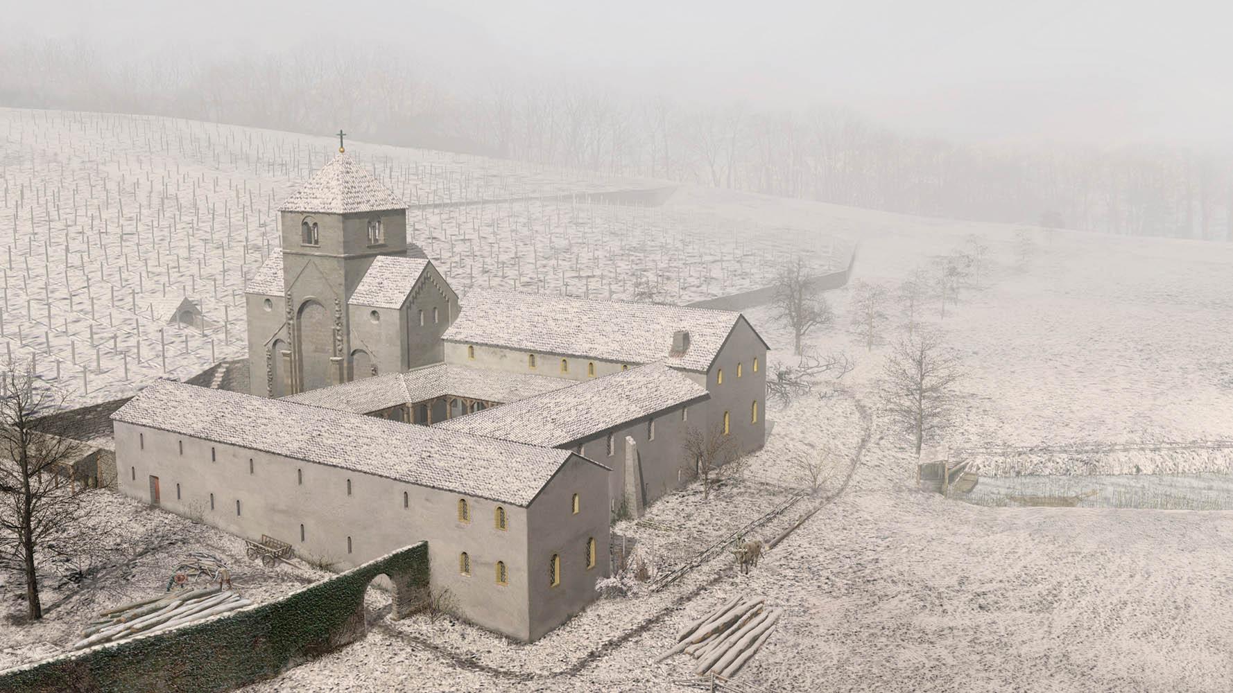 Kloster St. Petersinsel im Winter