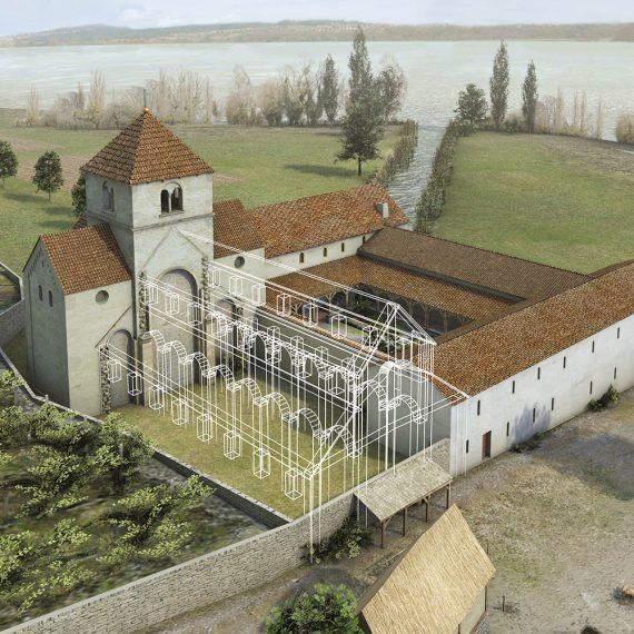 Kloster St. Petersinsel geplantes Kirchenschiff