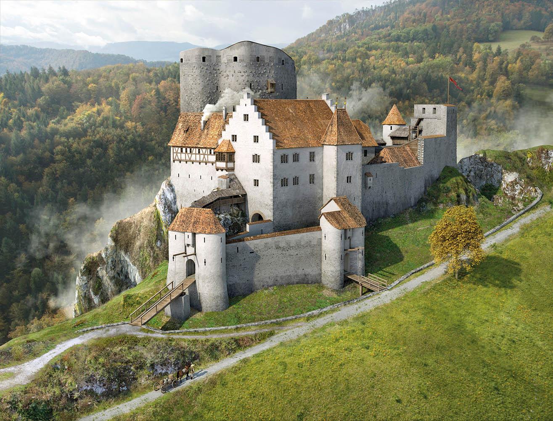 Schloss Pfefingen Lebensbild