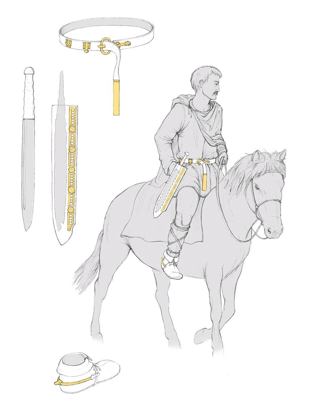 Rekonstruktion Alemannischer Reiter