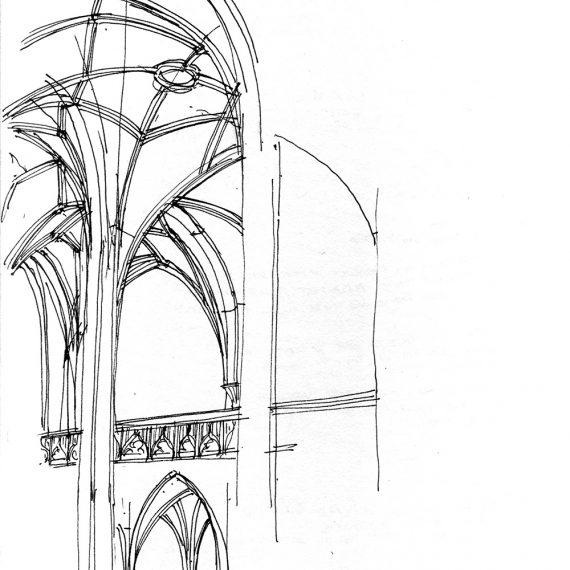 Skizze Leonardskirche, Basel