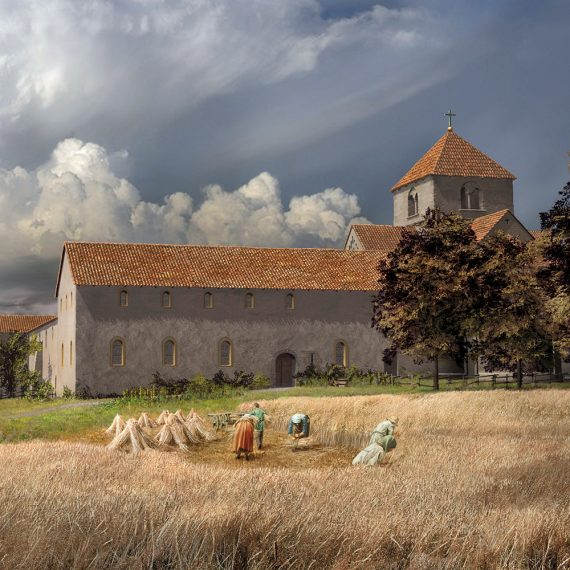 Kloster St. Petersinsel Ostansicht