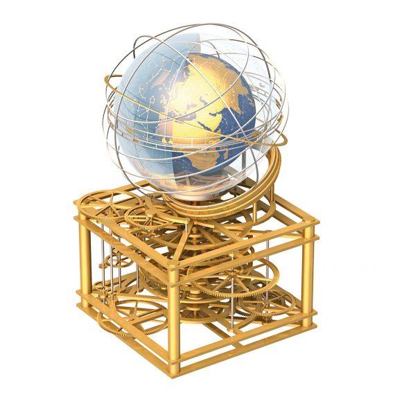 Türleruhr Globus