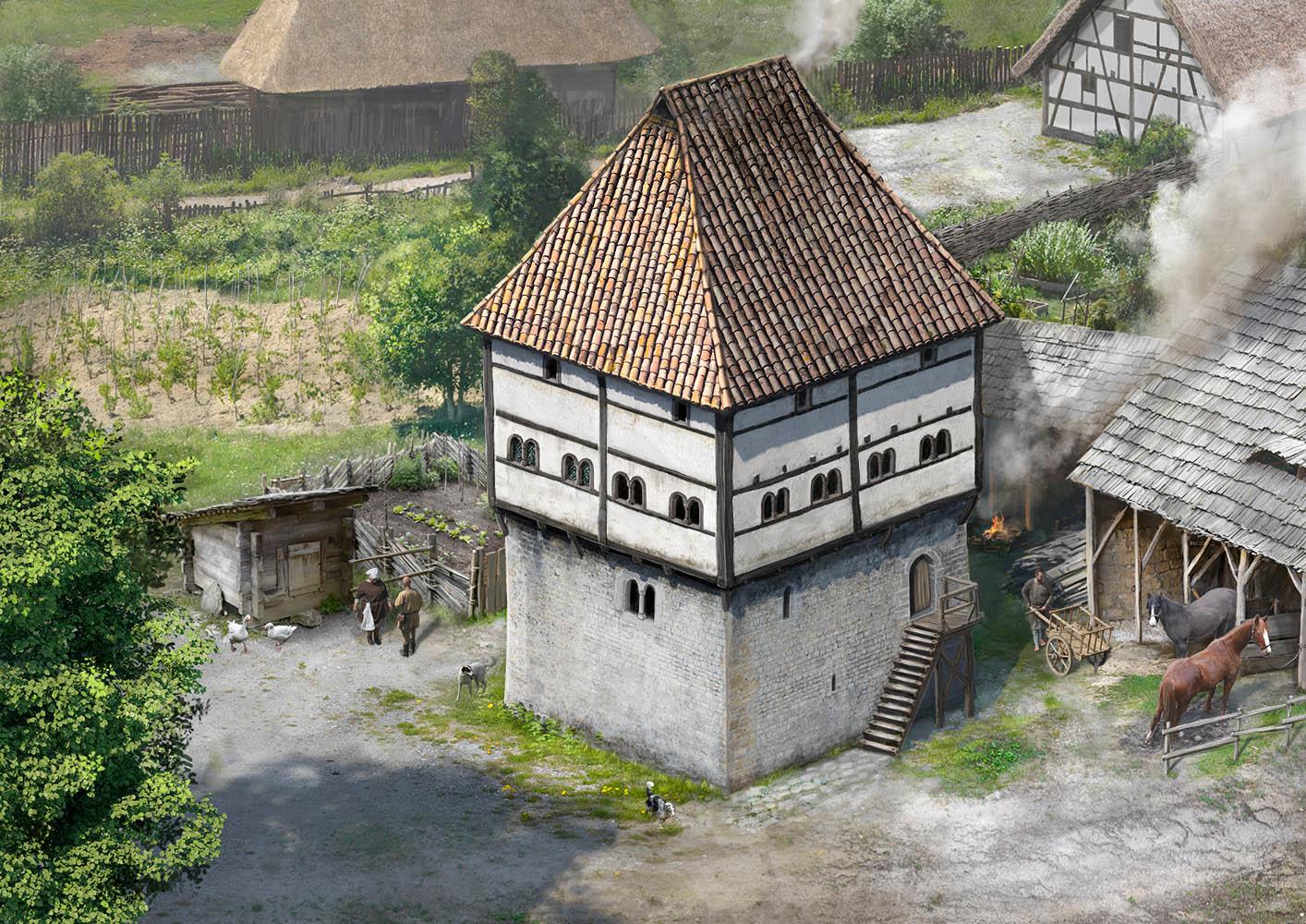 Templerhaus Amorbach um 1300