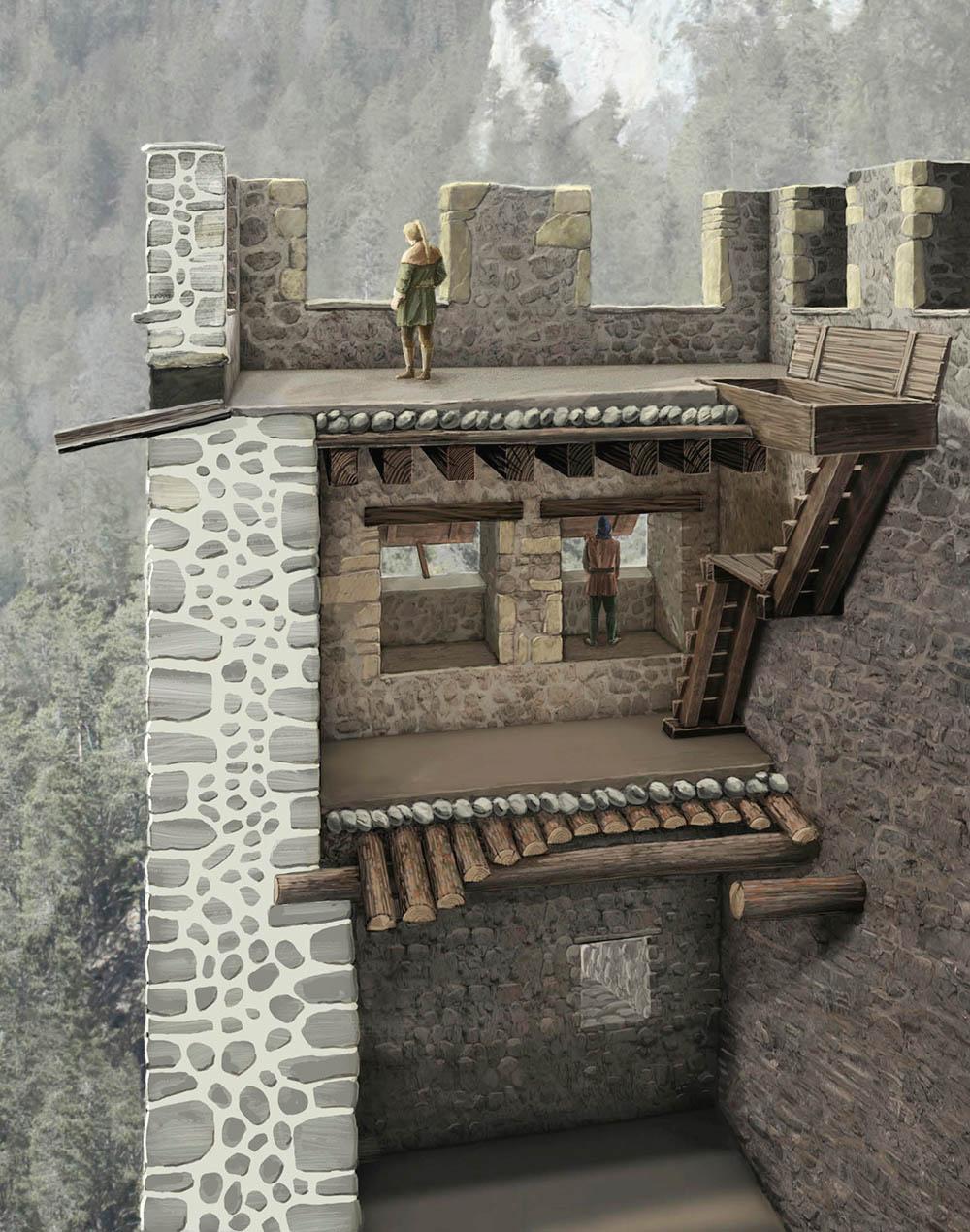 Belfort Turm Querschnitt