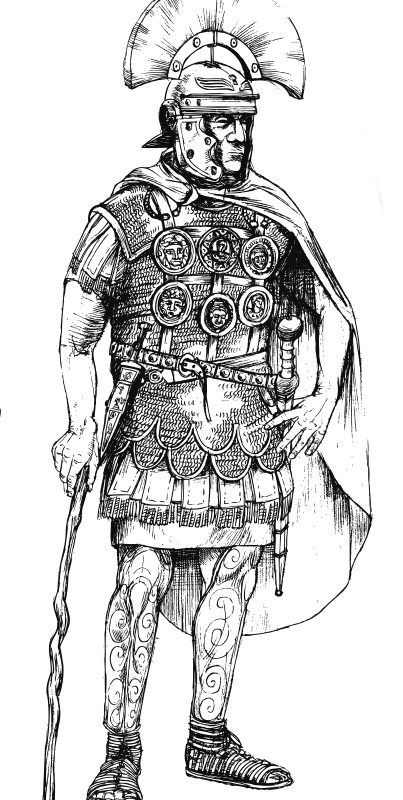 Zeichnung römischer Centurio