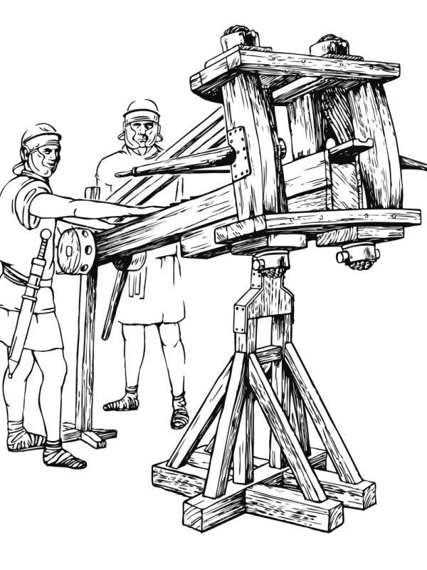 Zeichnung römische Balliste