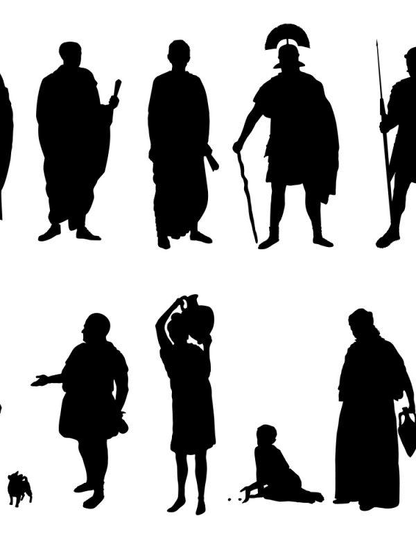 Zeichnung Umrisse Römer