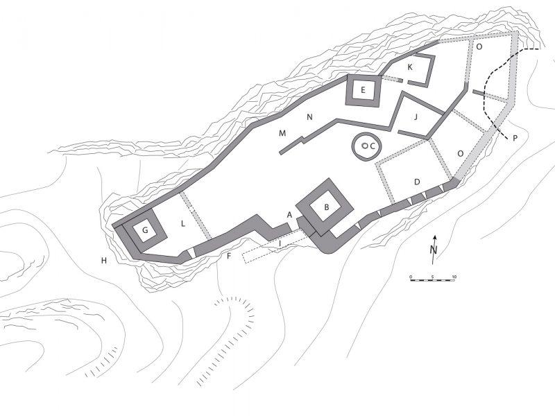 Grundriss Burg Vordere Wartenberg