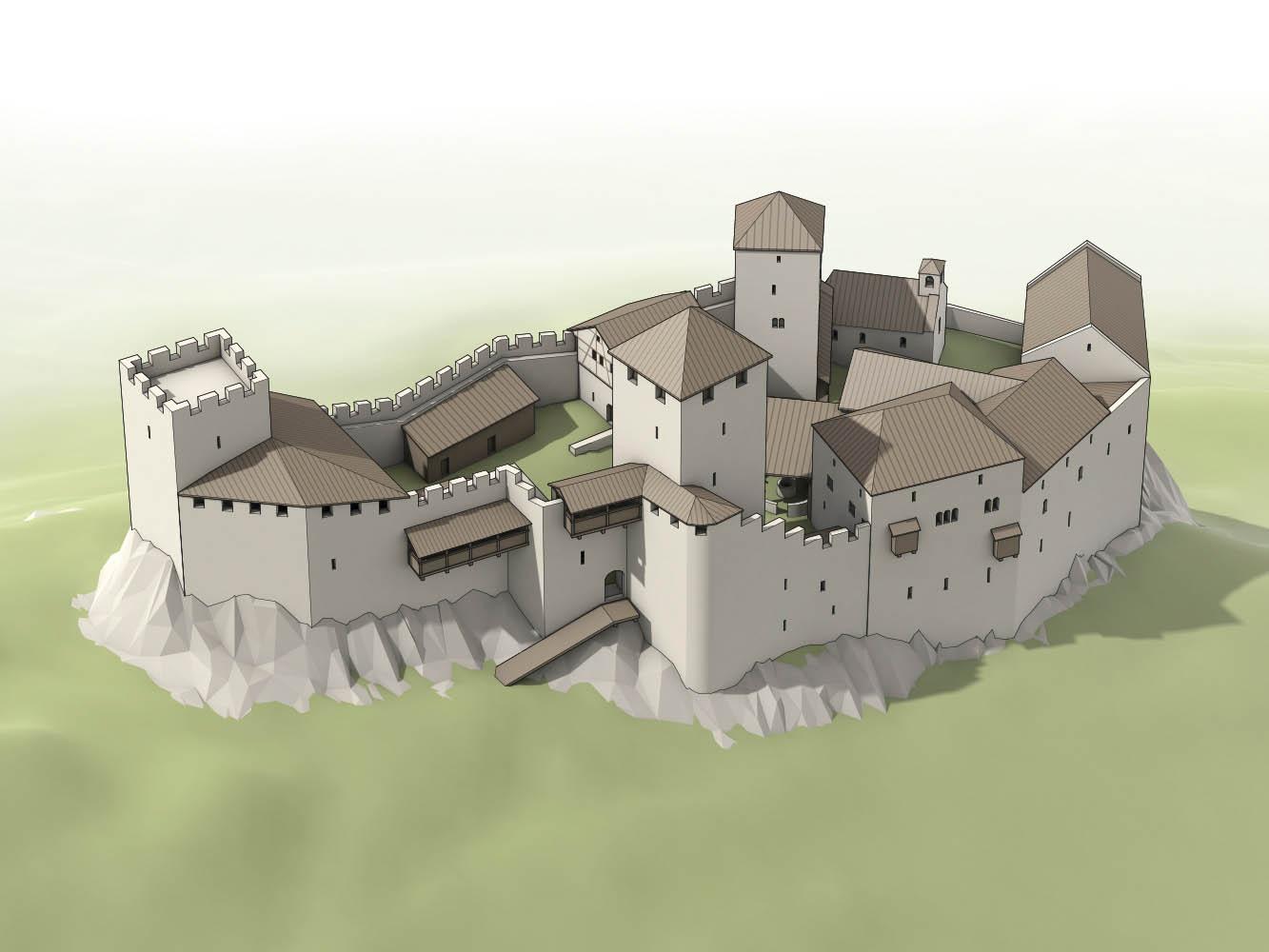 Rekonstruktion Burg Vordere Wartenberg