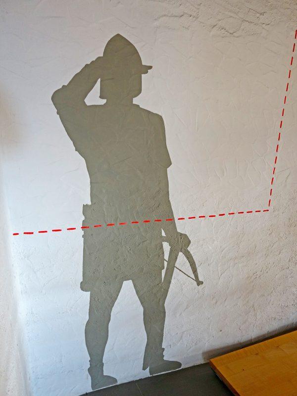 Wandgemälde Schloss Heidegg