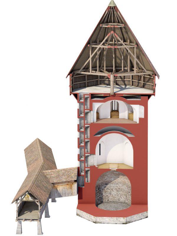 Wasserturm Luzern Schnitt