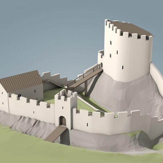 Rekonstruktionsversuch Schloss Wildenstein 1338