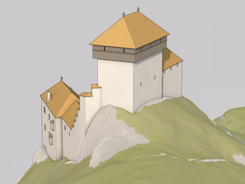 Rekonstruktionsversuch Ruine Witwald