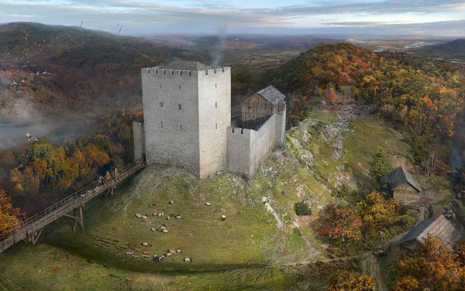 Rekonstruktionsversuch Burg Altenberg